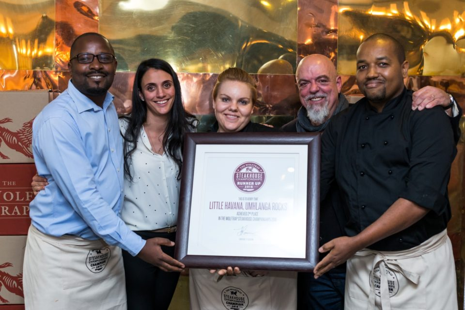 Hospitality-hedonist-Runner-Up Little Havana L to R Clive Gundu, Inge Hoffmann, Louise Potgieter, Thema Mgoma, Pete Goffe-Wood