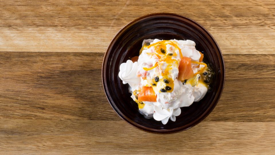 grazing-room-eton-mess-meringues-with-papaya-passionfruit-and-orange-blosson-chantilly