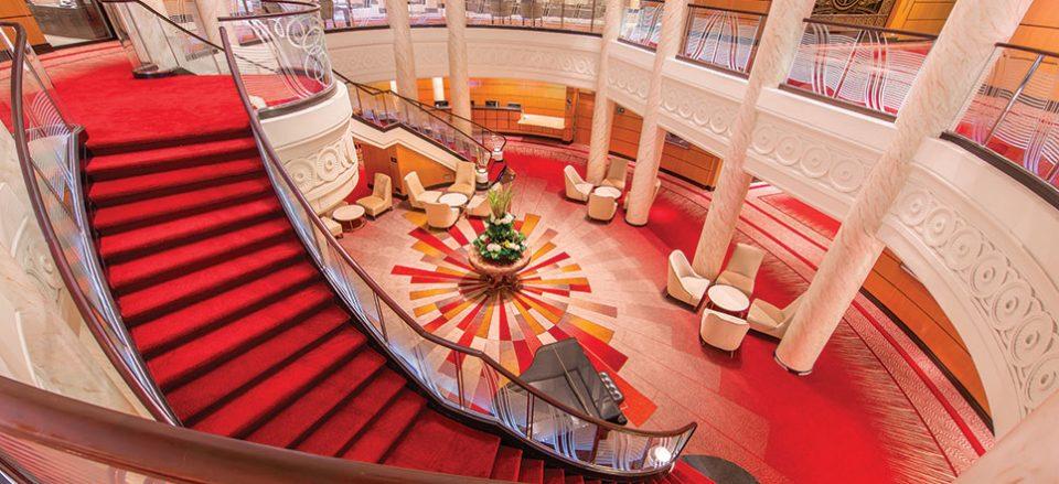 QM2 Atrium 966x442 960x439 - Cruising the Queen Mary 2