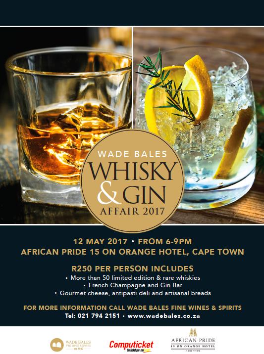 WGA Flyer - Wade Bales Whisky & Gin Affair 2017