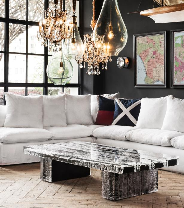glacier coffee table wood acrylic - Timothy Oulton Collection : South Africa