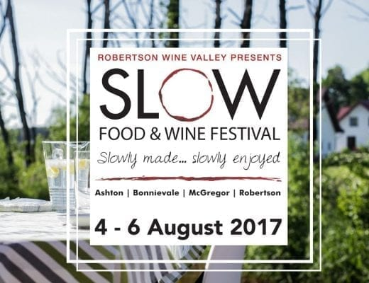 robertson slow festival Hospitalty hedonist 520x400 - Robertson SLOW Food & Wine festival: 4-6 August 2017