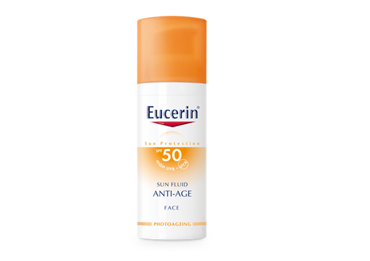 87934 PS EUCERIN INT SUN product header fluid anti age 50 - 4 Grooming Products you'll thank 20's you for using