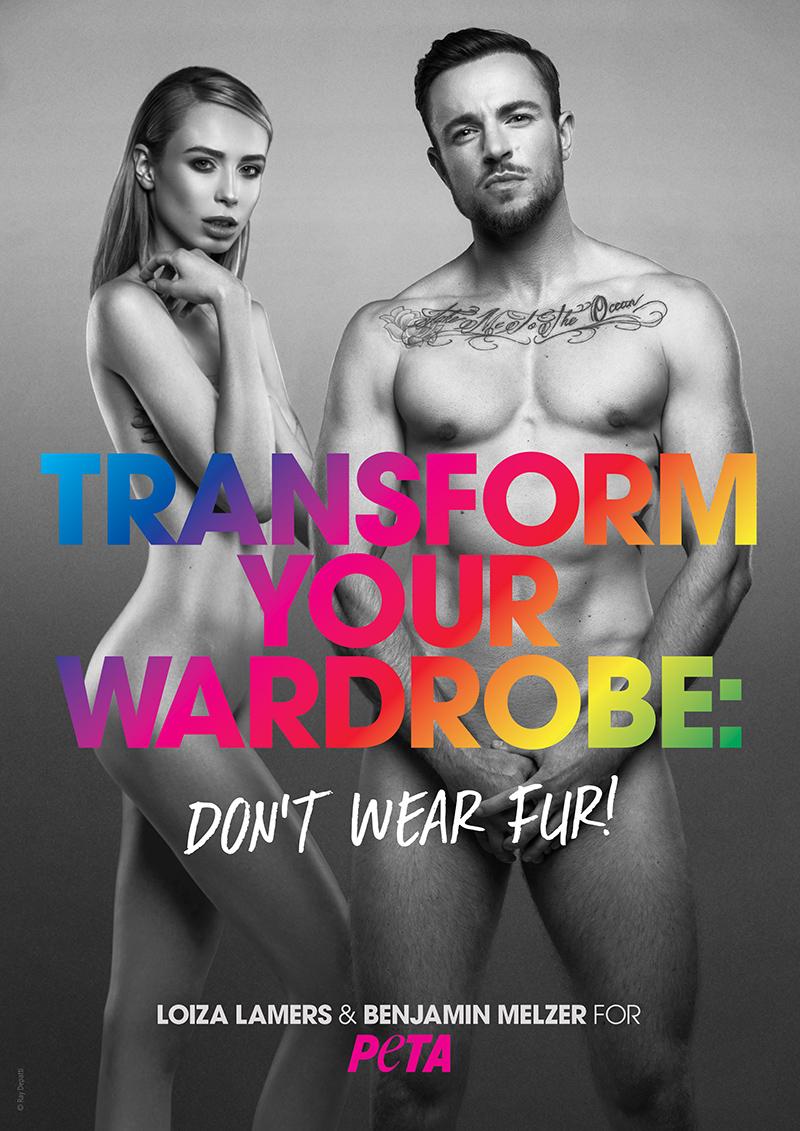 Loiza Benjamin ENG 72 - PETA: First Transgender Models in I'd Rather Go Naked Campaign